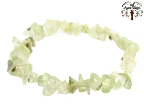 Prehnite Gemstone Chip Stretch Bracelet