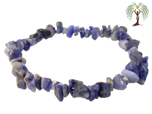 Sodalite Gemstone Chip Stretch Bracelet