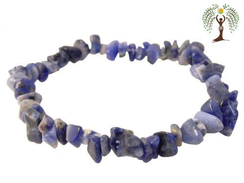 Sodalite Gemstone Chip Stretch Bracelet