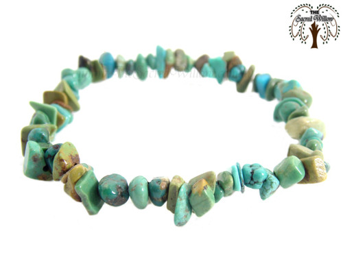 Turquoise Gemstone Chip Stretch Bracelet