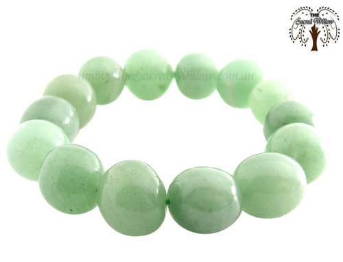 Green Adventurine (India) Nugget Stretch Bracelet Tumbled Stones