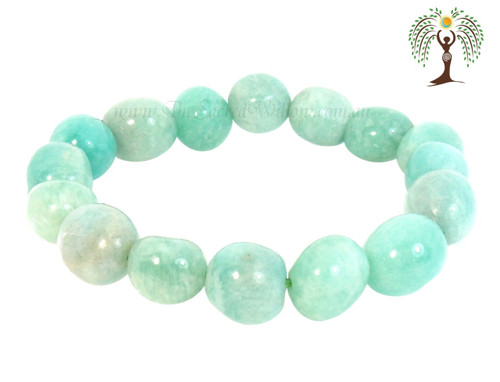 Amazonite Bead Stretch Bracelet