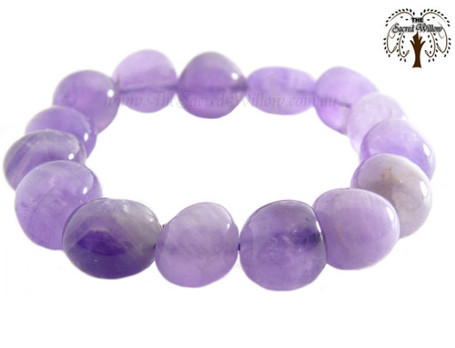 Amethyst Nugget Stretch Bracelet Tumbled Stones
