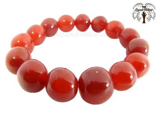 Carnelian Nugget Stretch Bracelet Tumbled Stones