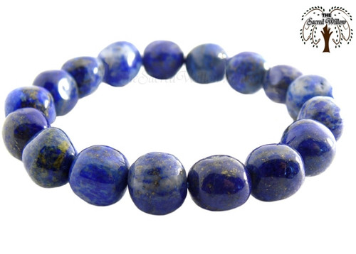 Lapis Lazuli Nugget Stretch Bracelet Tumbled Stones