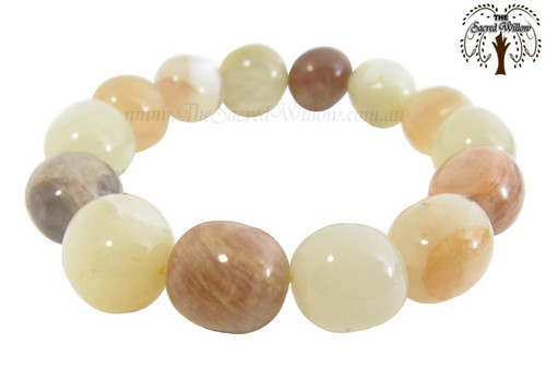 Moonstone Bead Stretch Bracelet