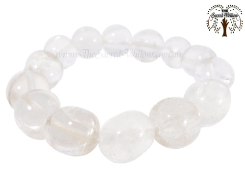 Clear Quartz Bead Stretch Bracelet