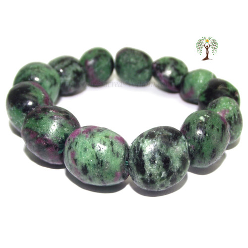 Ruby & Zoisite Nugget Stretch Bracelet