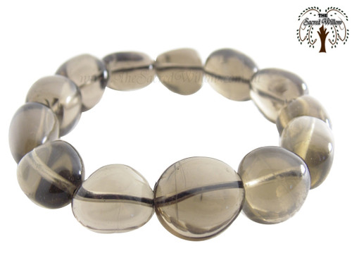 Smokey Quartz Nugget Stretch Bracelet Tumbled Stones