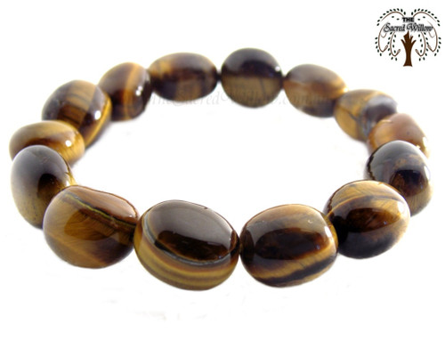 Tiger Eye Nugget Stretch Bracelet Tumbled Stones