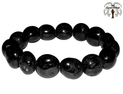 Black Tourmaline Bead Stretch Bracelet is especially useful for blocking curses, psychic attack and ill-wishing. Black Tourmaline draws off negative energy, clears blockages