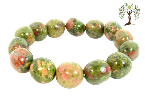 Unakite Nugget Stretch Bracelet Tumbled Stones