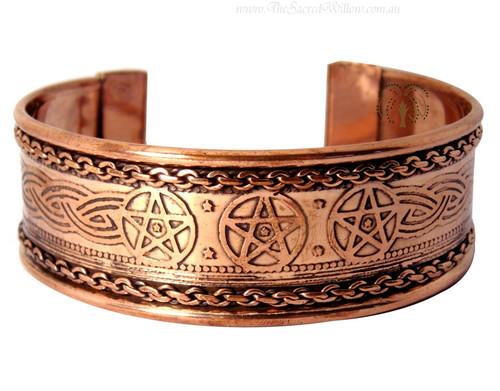 Pentagram Copper Cuff Bracelet