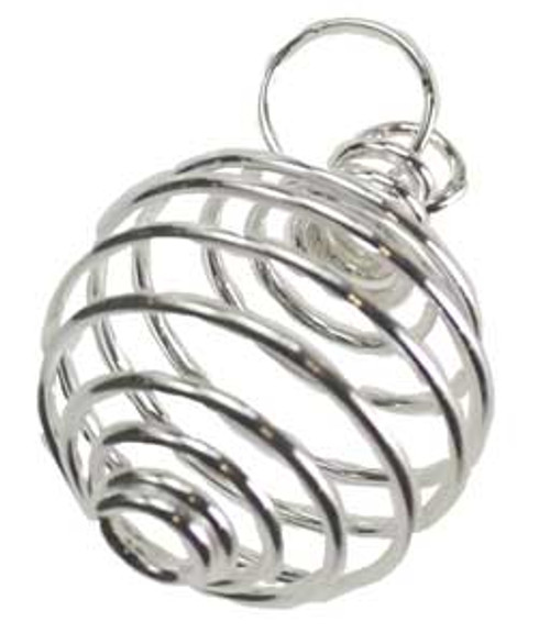 Silver Plated Crystal Cage