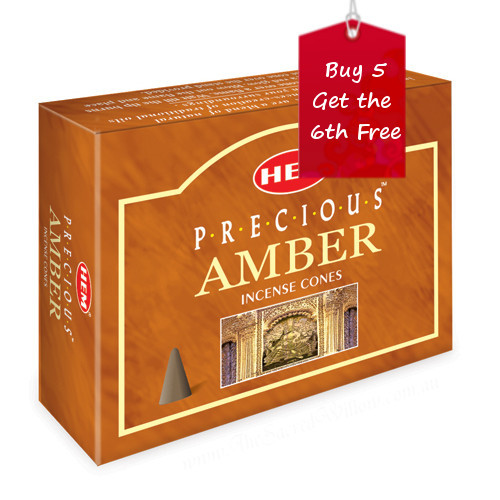 Precious Amber Hem Incense Cones