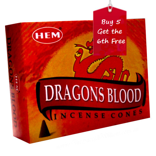 Dragons Blood Hem Incense Cones