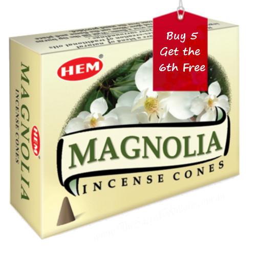Magnolia Hem Incense Cones