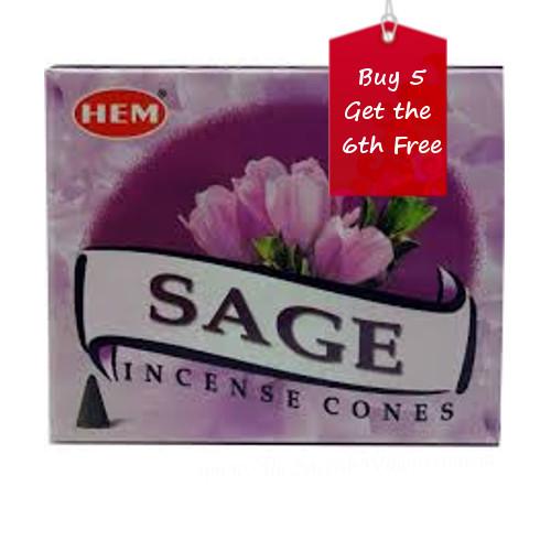 Sage Hem Incense Cones