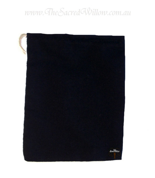 Black Cotton Mojo Bag 10cm
