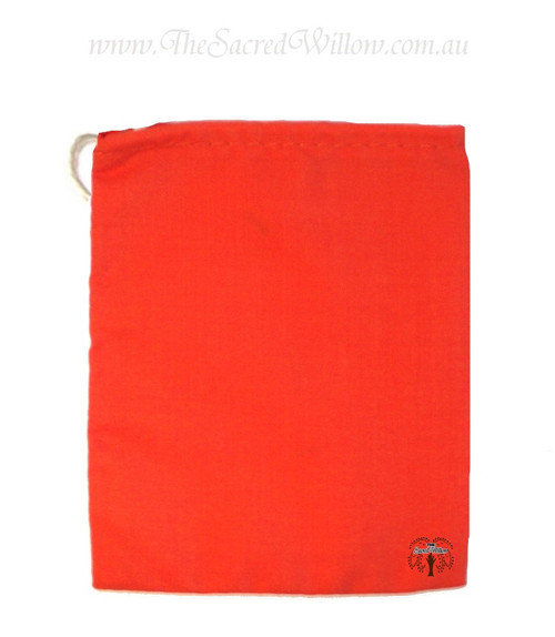 Orange Cotton Mojo Bag 10cm