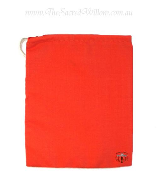 Orange Cotton Mojo Bag 10cm