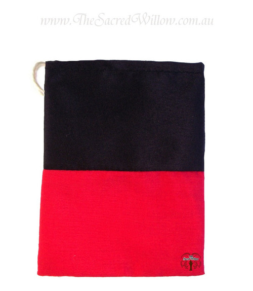 Reversing Red & Black Cotton Mojo Bag 10cm