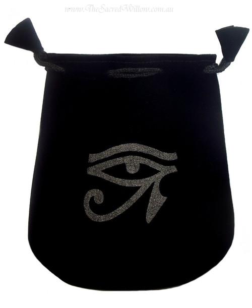 """Eye of Horus Velveteen Bag / Mojo Bag 13cm / 5"""""""