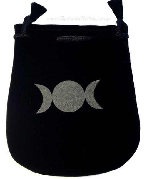 """Triple Goddess Velveteen Bag / Mojo Bag 13cm / 5"""""""