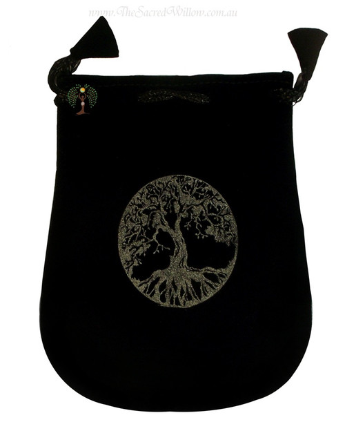 Tree Of Life Velveteen Bag / Mojo Bag 13cm / 5""
