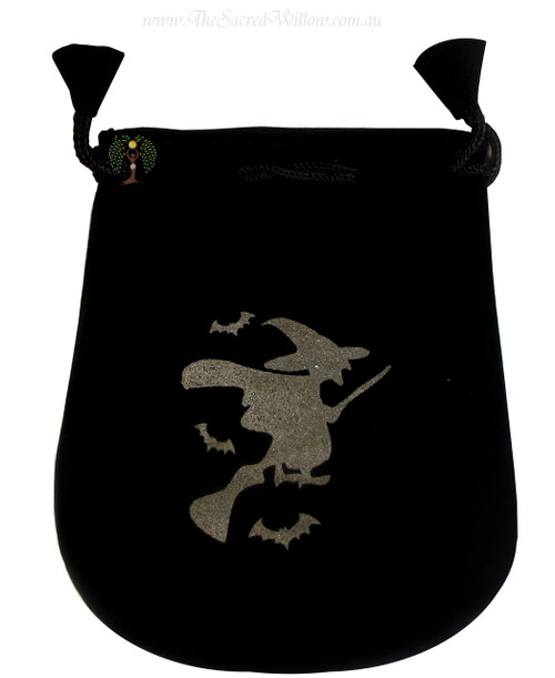 Witch Velveteen Bag / Mojo Bag 13cm / 5""