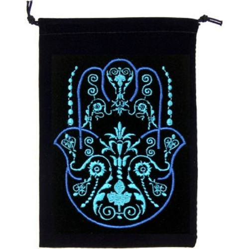 Hamsa Hand  Velveteen Drawstring Tarot Bag 18cm