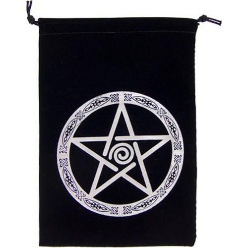 Pentacle Velveteen Drawstring Tarot Bag 18cm