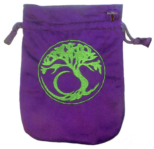 Tree of Life Velveteen Drawstring Tarot Bag