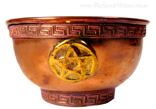 Brass Pentagram Offering Bowl 8cm