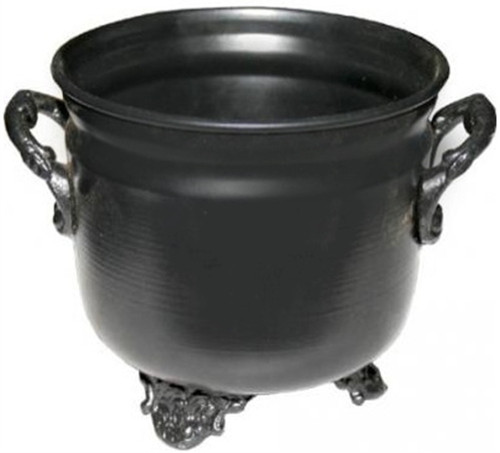 Cauldron Metal Black Plain 11cm