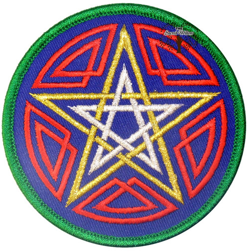 "Pentagram Embroidered 3"" Iron On Patch"