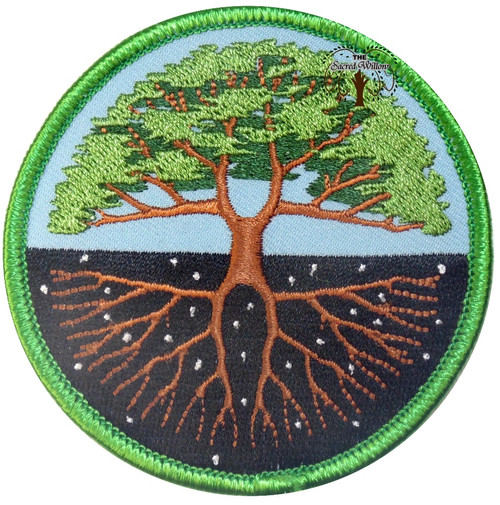 "Tree of Life Embroidered 3"" Iron On Patch"