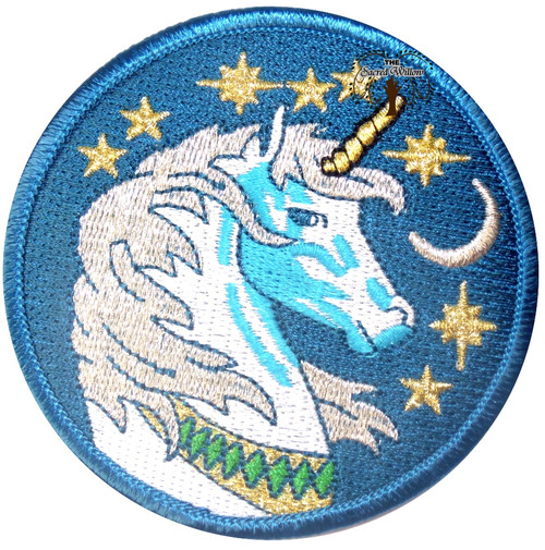 "Unicorn Embroidered 3"" Iron On Patch"