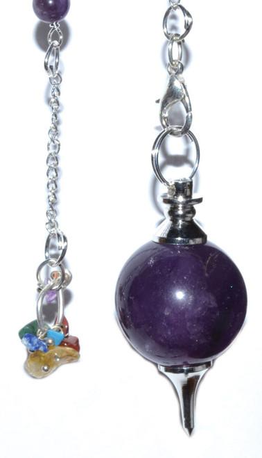 7 Chakra Amethyst Ball Pendulum
