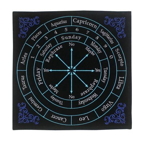 Embroidered Astrology Pendulum Mat 30 x 30cm