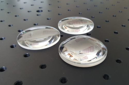 50mm diameter plano-convex lenses uncoated