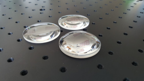 50mm Diameter UV Grade Fused Silica Lenses Uncoated