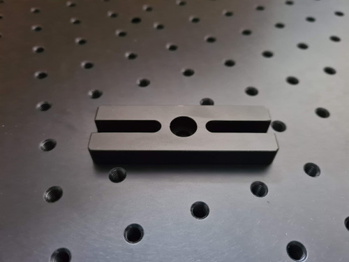 Black anodised aluminium post base for use with optical post and holders