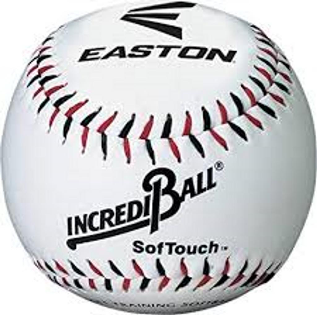 Easton Incrediball Baseball- Softouch Synthetic Cover (1 dozen)
