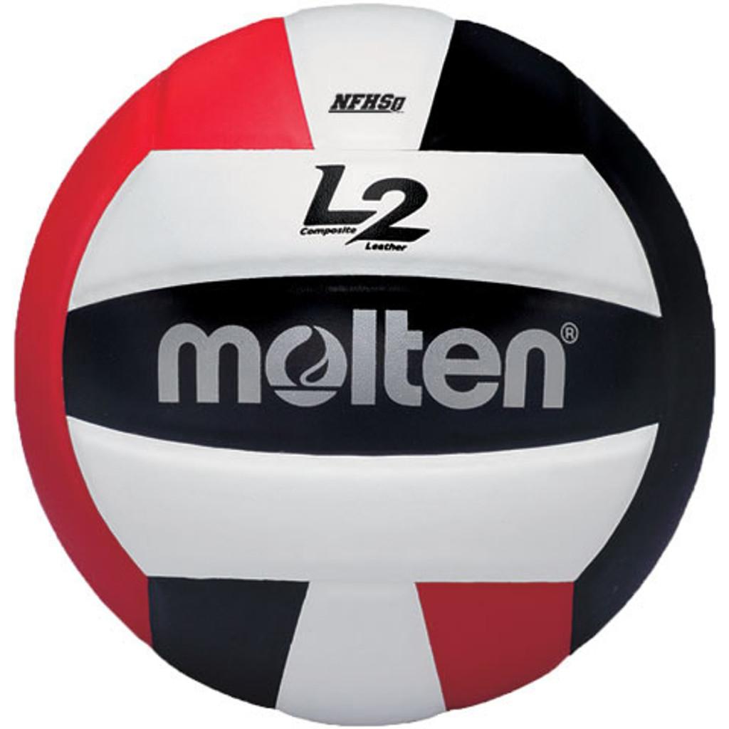 Molten L2 Volleyball - IVU-BLK/RED-HS