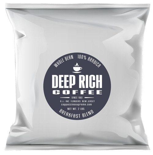 Deep Rich Breakfast Blend Fresh Roasted Whole Bean Coffee
