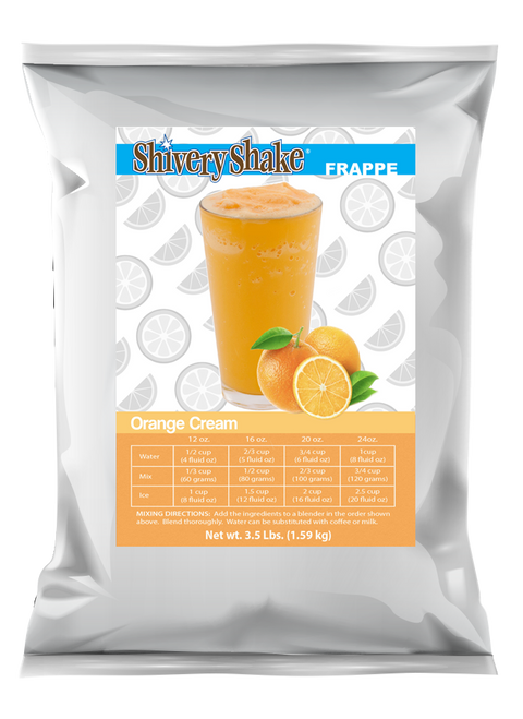Shivery Shake Orange Cream Frappe Blender Mix 3.5 lb. bag