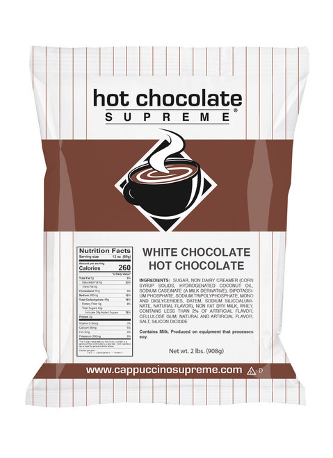 Sweet, creamy white chocolate hot chocolate supreme instant hot chocolate mix 2 lb bag only 6.95