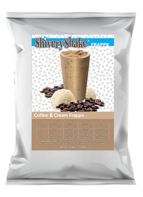Shivery Shake Coffee & Cream Frappe Mix 3.5 Lb. Bag