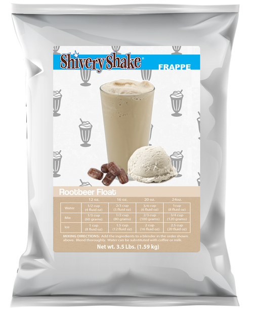 Shivery Shake Root Beer Float Frappe Mix 3.5 Lb. Bag